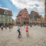 Ball Game on the Main Square, Rothenburg, Germany