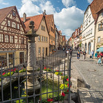 Fountain on the Pl�nlein, Rothenburg, Germany